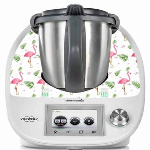 Sticker pour Thermomix TM5 flamant rose